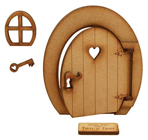 ovale Ouverture Porte de fée. ovale tridimensionnel Ouverture Porte de fée. en bois à monter soi-même Craft Kit.