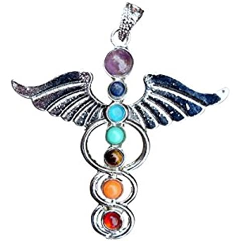 berties perline Chakra ciondolo con collana Multi 17