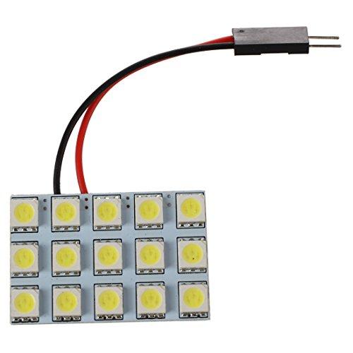 TOOGOO(R) 2x Voiture Interieur Lampe Panneau 15 SMD 5050 LED T10 BA9S Dome Feston Ampoule Adapteur