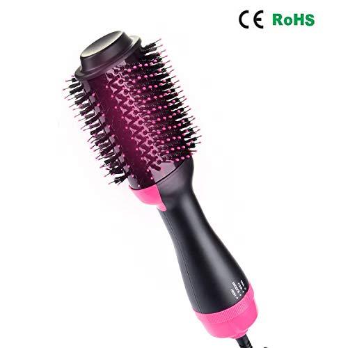 trockner, Multifunktionaler Warmluftbürste Hair Styler&Volumizer Haarglätter Negativer Ionenfön Föhn Pinsel Lockiges Haar Heißluftbürste Lockenwickler für alle Haartypen ()