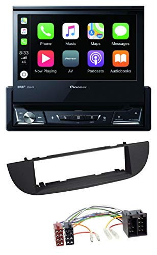 caraudio24 Pioneer AVH-Z7200DAB DVD Bluetooth DAB USB MP3 Autoradio für FIAT 500 (ab 2007) - schwarz