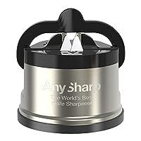 AnySharp Knife Sharpener Pro, Brushed Stainless