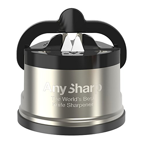 41sfH7xLkML. SS500  - AnySharp Pro Metal Knife Sharpener with Suction, Brushed Metal