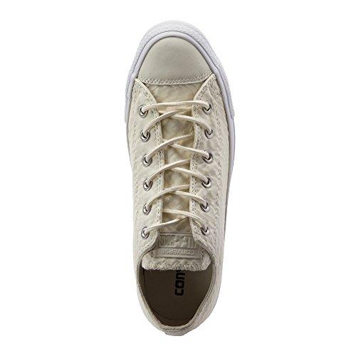 Damen Femme Ox Chuck Baskets Converse Sneaker Blanc Blanc Cuir All beige Taylor Craft Star xzvZC6qw
