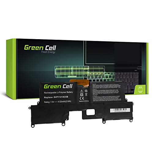 Green Cell® VGP-BPS37 VJ8BPS37 Akku für Sony Vaio Laptop (Li-Polymer Zellen 4120mAh 7.5V Schwarz)