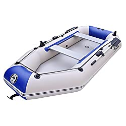 NUOAO Kayak Fishing Boat 2-Person Inflatable Boat Set with Aluminum Oars and Air Pump