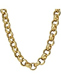 2f8d8f04d Bling King Heavy Duty Solid 18k Gold Plated Belcher Chain Necklace Chunky  Big RRP £95