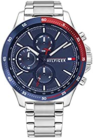 Tommy Hilfiger men's Navy Dial Stainless Steel Watch - 179