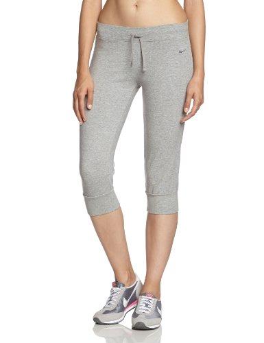 Cuffed Capri Hose (Nike Damen Sportswear Regular CL Cuffed Capri Hose, Dk grey heather/anthracite, XS, 540196)