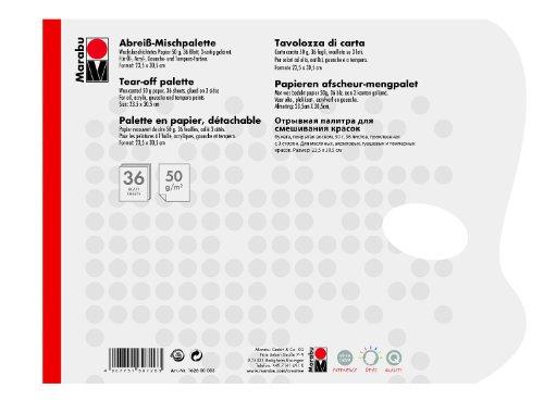 Marabu 162600003 - Papiermischpalette, 36 Blatt