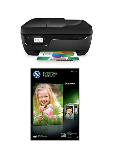 HP Officejet 3831 Multifunktionsdrucker + HP Glossy Standard Fotopapier mit 100 Blatt