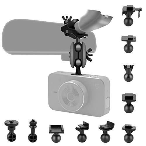 Dash Cam Spiegel-Halterungs-Set mit 16 verschiedenen Gelenken, geeignet für APEMAN, Vantrue N2 Pro, YI, Byakov, SuperEye, Jeemak, Okey, Crosstour, Peztio usw. Dashcam und Auto-DVR-Kamera GPS