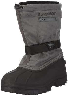 KangaROOS Duck-Boot 11009/285, Mädchen Stiefel, Grau (carbon/blk 285), EU 34