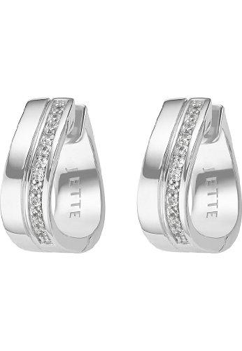 JETTE Silver Damen-Creole 925er Silber 26 Zirkonia One Size 86735482