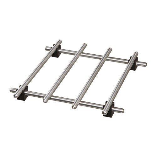 Ikea Lämplig Dessous de plat en acier inoxydable avec pieds en caoutchouc 18 x 18 cm