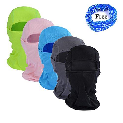 Gofriend Mehrzweck-Sturmhaube Maske Outdoor Sport Maske für Damen & Herren - Ideal für Motorrad, Ski, Radfahren, Laufen, Camping, Wandern - Sommer oder Winter, nahtlose Halbgesichts-Maske (schwarz)