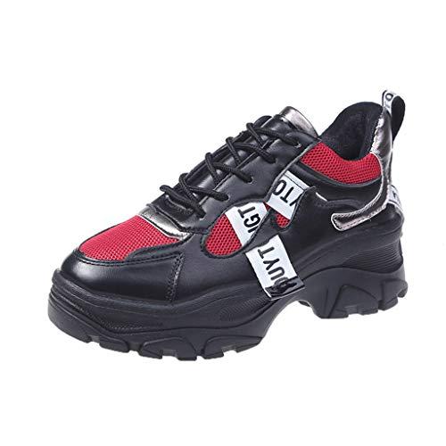 Maleya Frauen Trendy High-Top Sneakers Frauen Stiefeletten Höhe erhöhen Schuhe hohem Absatz und Schnee Schuhe Knöchel Kurze Stiefel Platform Heels Knee Boots Long Boots Ankle Lässig Kniehohe -