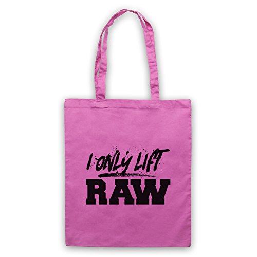 I Only Lift Raw Bodybuilding Culture Slogan Umhangetaschen Rosa