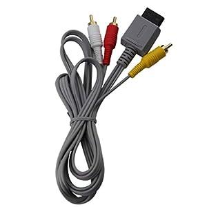 booEy AV Kabel 3 Chinch Scart Kabel für Nintendo Wii Vergoldete Kontakte