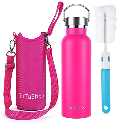 39162315b7a TuTuShop Stainless Steel Water Bottle Double Wall Vacuum Insulated —12  Hours Hot 24 Hours