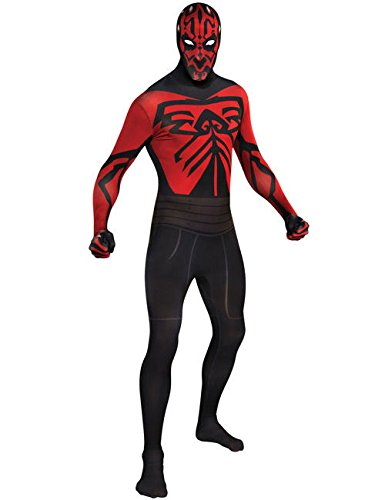 Darth Maul Second Skin Suit Star Wars Disfraz Negro Rojo
