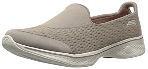 Skechers Women Go Walk 4-Pursuit Low-Top Sneakers, Beige (Tpe), 5 UK 38 EU