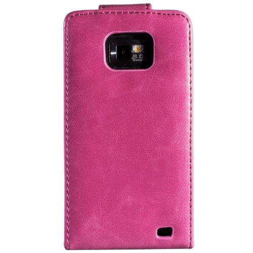 wortek Flip Case Samsung Galaxy S2 i9100 Tasche Rot S2 - Rosa 2