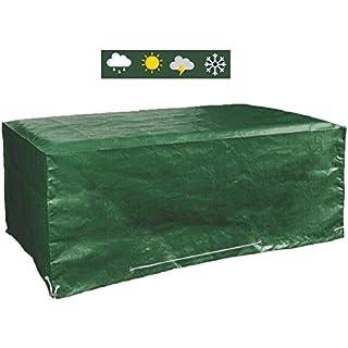 Glorytec Abdeckplane Gartenmöbel 200x160x70 - Gartenmöbel Abdeckung Wasserdicht Schutz vor Wind und Wetter - Schutzhülle für eckige Gartentische und Schutzhaube
