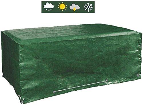 Glorytec Premium Abdeckung Gartenmöbel 200x160x70 Schutzhülle und Abdeckplane Gartenmöbel für rechteckige Sitzgarnituren und Gartentische