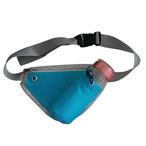Vertvie Unisex Mode Outdoor Bauchtasche Hüfttasche Gürteltasche Sporttasche Satteltasche mit Flaschenhalter Multifunktionstaschen Fitnesstasche Handy-Paket Beutel Blau
