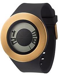 Relojes hombre, reloj esfera negra con cargó dorado + MY04.