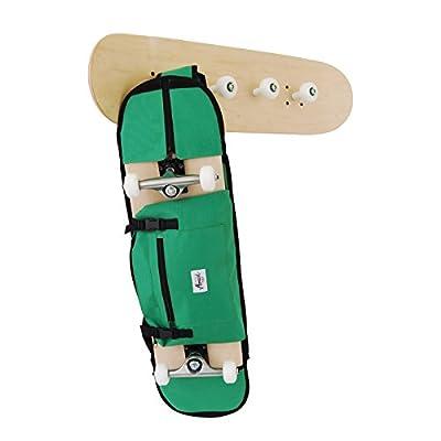 """Rucksäcke für skateboard 7,5 - 8,5"""", in grün. Trendiger Umhängerucksack Crossover Rucksack Schulterrucksack Slingbag Body Bag Crossbag Skaterrucksack . Monark Supply"""