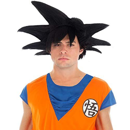 Son Perücke Goku Kostüm - Son Goku Perücke- Dragon Ball Kostümzubehör schwarz