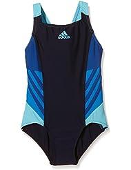 adidas I Ins 1Pc G - Bañador para niña, color negro / azul, talla 128