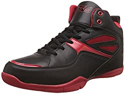 Fila Mens Darbo Black and Red Basketball Shoes - 7 UK/India (41 EU)