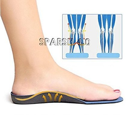 'SPARSH 4.0' Correcting Medial Arch Insoles. Shoe size 39-42, 6-9. One pair. Arch Support Designed for flat Feet.