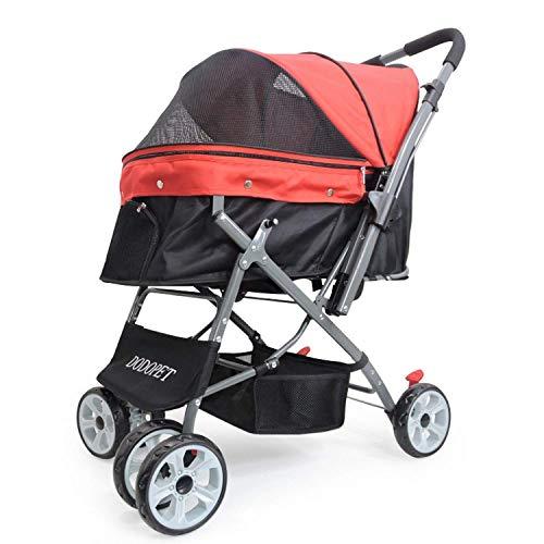 WZB - Wheelchair Teddy Bichon Trolley mit DREI Rädern Hundekatze aus Dem Tragbaren Wagen Faltbarer Kinderwagen -
