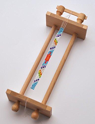 Playbox 2470385 Perlenwebrahmen, Durchmesser 33 cm, Mehrfarbig
