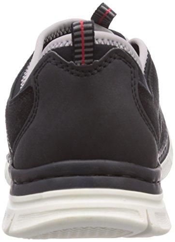 Rieker  B4883, Sneakers basses homme Noir - Schwarz (schwarz/schwarz/schwarz/schwarz/schwarz/cement/fog / 00)