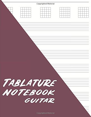 Tablature Notebook Guitar: Minimalist Guitar Tab Paper - Maroon (Music Manuscript Journal, Band 2)
