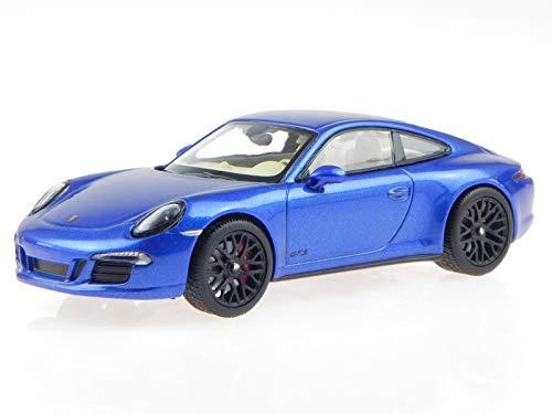 Schuco Porsche 911 991 Carrera 4 GTS Coup Saphir blau Modellauto 450758100 1:43