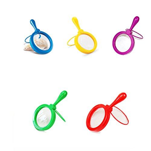 TOYMYTOY-5pcs-10-cm-de-color-de-alta-definicin-andamio-lupa-de-mano-nios-ciencia-experimento-lupa-multicolor