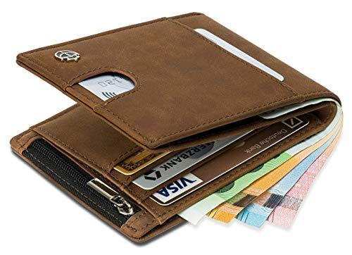 Geldbörse mit Münzfach - 11 Kartenfächer RFID Schutz - Ideal als Geschenk für Herren -...