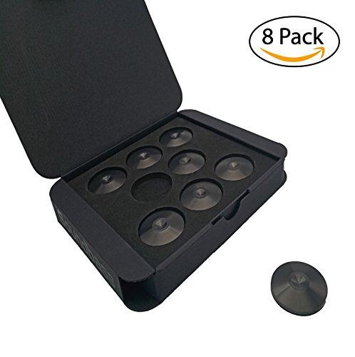 Set di 8 Piedini per Spikes - pads anti- marche, anti-shock Isolanti per Hi-Fi - Satin Black – Della Soundbass