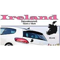 MAPS - Länder Autoaufkleber Silhouette ***IRELAND*** 12cm x 15cm (Farbauswahl)