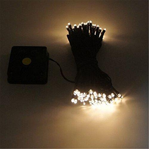 Preisvergleich Produktbild 12m 100 LED Solarschnur Licht wasserdicht Solarlampe LED Weihnachtslichterkette in den Freien Garten Licht Dekoration ( Warmes Licht)
