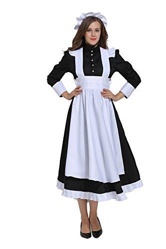 Dienstmädchen Kostüm Viktorianisches - dream cosplay Viktorianisch Maid Erwachsene Schick Kleid Kostüm (X-Large)