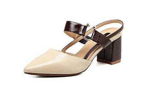 Moda Mid Heel Heels - Pumpe Chunkly Heels Slingpumps Sandalen Metallschnalle