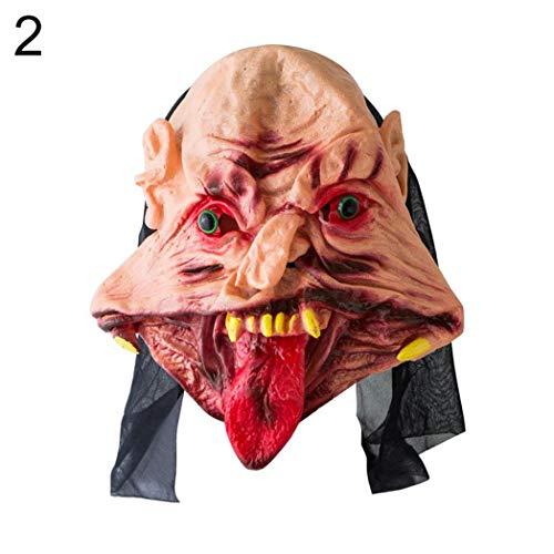 DeYL Halloween Dekoration Scary Halloween-Geist Blutige Disgusting Vinyl-Maske Kostüm-Party Sprache Struts - 2