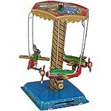 Juguete de Hojalata Decoración Colección para Adultos Avion Carrusel Terminan